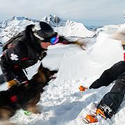 Chris Brindisi rag trains with his German Shepherd named Wookie.