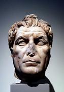 Marble portrait bust of a man. circa 100 AD Roman