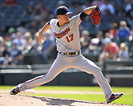 CHICAGO - AUGUST 29:  Jose Berrios #17 of the Minnesota Twins pitches against the Chicago White Sox on August 29, 2019 at Guaranteed Rate Field in Chicago, Illinois.  (Photo by Ron Vesely)  Subject:   Jose Berrios