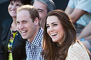 Duke and Duchess of Cambridge visit Taronga Zoo, Sydney , Australia. Prince William, Duke of Cambridge and Catherine, Duchess of Cambridge enjoy watching a bird display, 20 April 2014