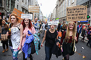The anti-austerity march, the People's Assembly saw tens of thousands marching and protestin in the streets of London against the newly elected conservative government.