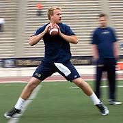 Quarterback Matt Barkley works out at Steve Clarkson's Super 7 Quarterback Camp