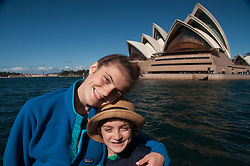 Eliza and Max at the Opera House, Sydney, New South Wales, Australia