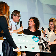 NLD/Amsterdam/20131014 -  Marie Claire Starters Award 2013, Winnares Sanne Tummers - Single&Stijl
