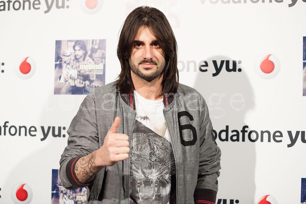 "Melendi  presents his last album ""Lagrimas desordenadas"" at the Riviera concert hall in Madrid"