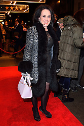 © Licensed to London News Pictures. 16/02/2016. LESLEY JOSEPH arrives for the press night of Mrs Henderson Presents press night at the Noel Coward Theatre. London, UK. Photo credit: Ray Tang/LNP