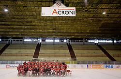 HK Acroni Jesenice Team roaster for 2009-2010 season,  on September 03, 2009, in Arena Podmezaklja, Jesenice, Slovenia.  (Photo by Vid Ponikvar / Sportida)