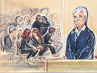PR Man Max Clifford at Southwark Crown Court on charges of indecent assault on several women over a 20 year period