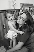 Mommy and camera-shy Nina.Thanksigiving 2012