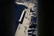 Street scene in downtown Tirana, Skenderbeg Square