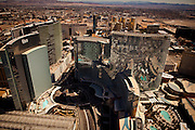 Aerial view of City Center development Las Vegas, Nevada
