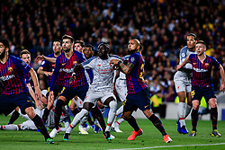 May 1, 2019 - Barcelona, BARCELONA, Spain - 08 Naby Keita of Liverpool FC defended by 22 Arturo Vidal of FC Barcelona during the UEFA Champions League first leg match of Semi final between FC Barcelona and Liverpool FC in Camp Nou Stadium in Barcelona 01 of May of 2019, Spain. (Credit Image: © AFP7 via ZUMA Wire)