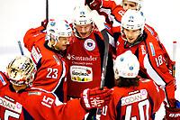 Ishockey , 23. Februar 2014, GET-Liga ,<br /> Lørenskog  - Stavanger Oilers<br /> Lørsnkog jubler for utligning til 4-4<br /> Foto: Sjur Stølen , Digitalsport