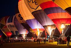 © Licensed to London News Pictures. 06/08/2015. Bristol, UK. Bristol International Balloon Fiesta 2015.  The Nightglow on Thursday evening.  Photo credit : Simon Chapman/LNP