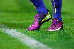 Shoes of Agim Ibraimi of Maribor during football match between NK Domzale and NK Maribor of 14th Round of PrvaLiga 2011/2012 at 90-years Anniversary of NK Domzale on October 15, 2011, in Stadium Sports park, Domzale, Slovenia. Maribor defeated Domzale 4-1.  (Photo by Vid Ponikvar / Sportida)