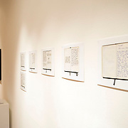 Reproductions from Louie Palu's personal diaries from Kandahar, Afghanistan 2009-2010 included in an exhibition of his Fighting Season body of work at the Honfleur Gallery in Washington, DC.