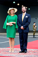 King Willem-Alexander and Queen Maxima of The Netherlands arrive at the airport and are welcomed by Hereditary Grand Duke Guillaume and Hereditary Grand Duchess Stephanie in Luxembourg, 23 May 2018. The Dutch King and Queen are in Luxembourg for an three day state visit. Photo: robin Utrecht