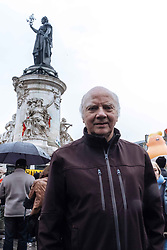 November 11, 2018 - Paris, Ile-de-France (region, France - Several hundred people gathered at Place de la Republique to protest against the arrival of Donald Trump in Paris on the occasion of the centenary celebrations of 11 November 1918. (Credit Image: © Jan Schmidt-Whitley/Le Pictorium Agency via ZUMA Press)