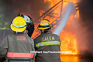 63818-02520 Firefighters at oilfield tank training, Marion Co., IL