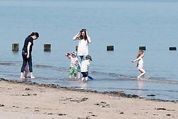 Edinburgh was covered in glorious sunshine today as the temperature was predicted to hit 23 degrees<br /> <br /> Pictured: Portobello Beach<br /> <br /> Alex Todd | Edinburgh Elite media