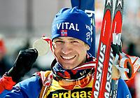 ◊Copyright:<br />GEPA pictures<br />◊Photographer:<br />Mario Kneisl<br />◊Name:<br />Bjoerndalen<br />◊Rubric:<br />Sport<br />◊Type:<br />Ski nordisch, Biathlon<br />◊Event:<br />IBU Biathlon WM 2005, 10 km Sprint, Herren<br />◊Site:<br />Hochfilzen, Austria<br />◊Date:<br />05/03/05<br />◊Description:<br />Ole Einar Bjoerndalen (NOR), Medaille<br />◊Archive:<br />DCSKN-0503054303<br />◊RegDate:<br />05.03.2005<br />◊Note:<br />8 MB - HH/HH - Nutzungshinweis: Es gelten unsere Allgemeinen Geschaeftsbedingungen (AGB) bzw. Sondervereinbarungen in schriftlicher Form. Die AGB finden Sie auf www.GEPA-pictures.com.<br />Use of picture only according to written agreements or to our business terms as shown on our website www.GEPA-pictures.com.