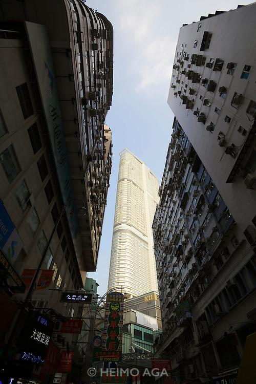Hong Kong, Kowloon. Highrise buildings.