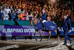 LYNCH Denis (GER), GC Chopin's Bushi<br /> Leipzig - Partner Pferd 2020<br /> Longines FEI Jumping World Cup™ presented by Sparkasse<br /> Sparkassen Cup - Großer Preis von Leipzig FEI Jumping World Cup™ Wertungsprüfung <br /> Springprüfung mit Stechen, international<br /> Höhe: 1.55 m<br /> 19. Januar 2020<br /> © www.sportfotos-lafrentz.de/Stefan Lafrentz