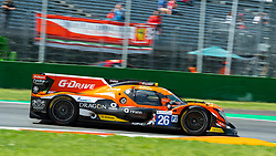 G-DRIVE RACING, here at first chicane in Monza, won the ELMS 4 hours of Monza with drivers Roman RUSINOV, Andrea PIZZITOLA and J.E. VERGNE.