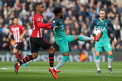 March 9, 2019 - Southampton, England, United Kingdom - Tottenham defender Danny Rose controls the ball from Southampton defender Yan Valery during the Premier League match between Southampton and Tottenham Hotspur at St Mary's Stadium, Southampton on Saturday 9th March 2019. (Credit Image: © Mi News/NurPhoto via ZUMA Press)
