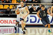 DESCRIZIONE : Bologna LNP DNB Adecco Silver GironeA 2013-14 Fortitudo Bologna Basket Cecina<br /> GIOCATORE : Venturelli Michele <br /> SQUADRA : Fortitudo Bologna <br /> EVENTO : LNP DNB Adecco Silver GironeA 2013-14<br /> GARA :  Fortitudo Bologna Basket Cecina <br /> DATA : 05/01/2014<br /> CATEGORIA : Palleggio<br /> SPORT : Pallacanestro<br /> AUTORE : Agenzia Ciamillo-Castoria/A.Giberti<br /> Galleria : LNP DNB Adecco Silver GironeA 2013-14<br /> Fotonotizia : Bologna LNP DNB Adecco Silver GironeA 2013-14 Fortitudo Bologna Basket Cecina<br /> Predefinita :