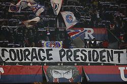 January 19, 2019 - Paris, France - Fans during the French L1 football match Paris Saint-Germain (PSG) vs Guingamp (EAG), on January 19, 2019 at the Parc des Princes stadium in Paris. (Photo by Mehdi Taamallah / Nurphoto) (Credit Image: © Mehdi Taamallah/NurPhoto via ZUMA Press)