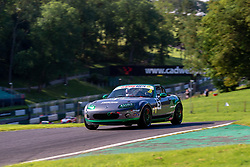 John Langridge pictured while competing in the BRSCC Mazda MX-5 SuperCup Championship. Picture taken at Cadwell Park on August 1 & 2, 2020 by BRSCC photographer Jonathan Elsey