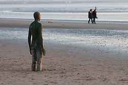 Another Place by Anthony Gormley on Crosby beach 2012