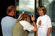 Czech soccer star and member of the Czech National team Pavel Nedved during a promotion session for the European Championship 2004.