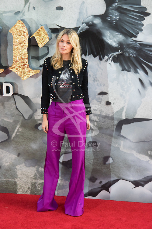 London, May 10th 2017.  Kara Rose Marshall attends the European premiere of King Arthur - Legend of the Sword at the Cineworld Empire in Leicester Square.