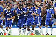 Chelsea striker Michy Batshuayi (23) scores a goal 1-0 during the EFL Cup match between Chelsea and Bristol Rovers at Stamford Bridge, London, England on 23 August 2016. Photo by Matthew Redman.
