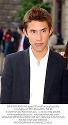 MR EDWARD TANG son of David Tang at a party in London on 28th May 2003.PJZ 26