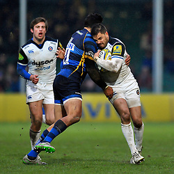 Horacio Agulla of Bath Rugby in possession - Mandatory byline: Patrick Khachfe/JMP - 07966 386802 - 13/02/2016 - RUGBY UNION - Sixways Stadium - Worcester, England - Worcester Warriors v Bath Rugby - Aviva Premiership.