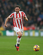 Joe Allen of Stoke City during the English Premier League match at the Bet 365 Stadium, Stoke on Trent. Picture date: December 17th, 2016. Pic Simon Bellis/Sportimage