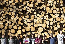 August 15, 2017 - Bialowieza, Poland - Members of 'Camp for Forest' organization stand near illegal logging during a protest event near Bialowieza. (Credit Image: © Maciej Luczniewski/NurPhoto via ZUMA Press)