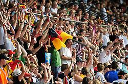16.07.2010, Ruhrstadion, Bochum, GER, FIFA U-20 Frauen Worldcup, Deutschland vs Kolumbien, im Bild dei deutschen Fans haben Spass, EXPA Pictures © 2010, PhotoCredit: EXPA/ nph/  Roth / SPORTIDA PHOTO AGENCY