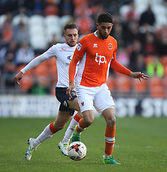 Kelvin Mellor of Blackpool (R) and Lawson D'Ath of Luton Town in action - Mandatory by-line: Jack Phillips/JMP - 14/05/2017 - FOOTBALL - Bloomfield Road - Blackpool, England - Blackpool v Luton Town - Football League 2 Play-off Semi Final Leg 1