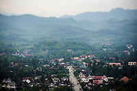 An overview of Luang Prabang as seen from Mount Phu Sy.