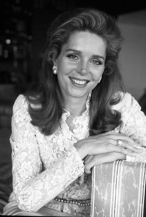 Queen Noor of Jordan, formerly Lisa Hallaby. See at her home in Aqaba, Jordan in 1984. Photographed by Jayne Fincher