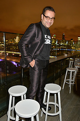 SACHA WALCKHOFF creative director of Christian Lacroix at a party hosted by Christian Lacroix partnered with Supa Model Management to celebrate London Men's Collections January 2015, held at the Rumpus Room, the roof top bar at the top of the Mondrian London, 20 Upper Ground, London SE1 on 12th January 2015.