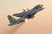 Israeli Air force Hercules 100 transport plane in flight
