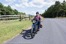 Dave Holzerland of WA on his 1916 Indian during the Rowdy Schenck of NM on his 1915 Harley-Davdison during the Motorcycle Cannonball Race of the Century. Stage-2 from York, PA to Morgantown, WV. USA. Sunday September 11, 2016. Photography ©2016 Michael Lichter.
