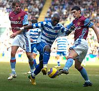 Photo: Alan Crowhurst.<br />Reading v Aston Villa. The Barclays Premiership. 10/02/2007. Reading's Leroy Lita attacks in the box.