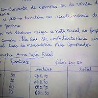 South America, Brazil. Rio de Janiero. Para Ti school lesson board in Favela of Vila Canoas.