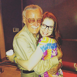 """Felicia Day releases a photo on Instagram with the following caption: """"My friend Jamie Paglia shared this amazing pic of me and Stan Lee together. He was a gentleman and so brilliant and generous with his encouragement. We should all be so lucky to have such a long life and be able to impart our wisdom to others until the end. If you have someone elderly in your life reach out and try to learn from them. It will improve both of your lives. \u003c3"""". Photo Credit: Instagram *** No USA Distribution *** For Editorial Use Only *** Not to be Published in Books or Photo Books ***  Please note: Fees charged by the agency are for the agency's services only, and do not, nor are they intended to, convey to the user any ownership of Copyright or License in the material. The agency does not claim any ownership including but not limited to Copyright or License in the attached material. By publishing this material you expressly agree to indemnify and to hold the agency and its directors, shareholders and employees harmless from any loss, claims, damages, demands, expenses (including legal fees), or any causes of action or allegation against the agency arising out of or connected in any way with publication of the material."""